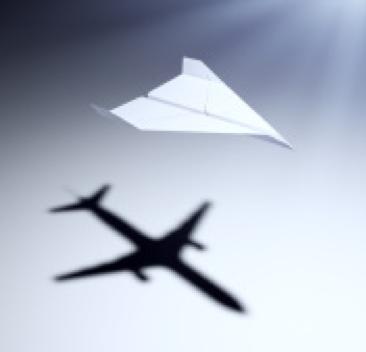 aper airplane with big aspirations
